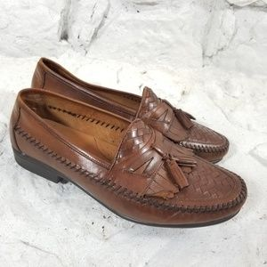 Hush Puppies Mens Sz 12W Brown Tassle Loafers San